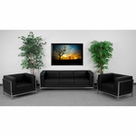 HERCULES Imagination Series Black Leather Sofa & Chair Set [ZB-IMAG-SET3-GG]