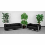 HERCULES Imagination Series Black Leather Sofa & Loveseat Set [ZB-IMAG-SET2-GG]
