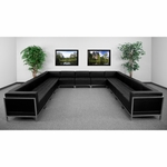 HERCULES Imagination Series Black Leather U-Shape Sectional Configuration,13 Pieces [ZB-IMAG-U-SECT-SET2-GG]