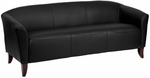 HERCULES Imperial Series Black Leather Sofa [111-3-BK-GG]