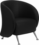 HERCULES Jet Series Black Leather Reception Chair [ZB-JET-855-BLACK-GG]