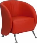 HERCULES Jet Series Red Leather Reception Chair [ZB-JET-855-RED-GG]