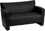HERCULES Majesty Series Black Leather Loveseat [222-2-BK-GG]