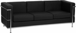 HERCULES Regal Series Contemporary Black Leather Sofa with Encasing Frame [ZB-REGAL-810-3-SOFA-BK-GG]