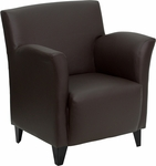 HERCULES Roman Series Brown Leather Reception Chair [ZB-ROMAN-BROWN-GG]