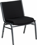 HERCULES Series Big & Tall 1000 lb. Rated Black Fabric Stack Chair [XU-60555-BK-GG]