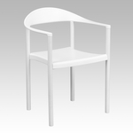 HERCULES Series 1000 lb. Capacity White Plastic Cafe Stack Chair [RUT-418-WH-GG]