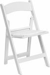HERCULES Series 1000 lb. Capacity White Resin Folding Chair with White Vinyl Padded Seat [LE-L-1-WHITE-GG]