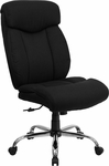 HERCULES Series 400 lb. Capacity Big & Tall Black Fabric Executive Swivel Office Chair [GO-1235-BK-FAB-GG]