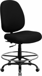 HERCULES Series 400 lb. Capacity Big & Tall Black Fabric Drafting Chair with Extra WIDE Seat [WL-715MG-BK-D-GG]