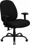 HERCULES Series 400 lb. Capacity Big & Tall Black Fabric Executive Swivel Office Chair with Extra WIDE Seat and Height Adjustable Arms [WL-715MG-BK-A-GG]
