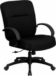 HERCULES Series 400 lb. Capacity Big & Tall Black Fabric Executive Swivel Office Chair with Extra WIDE Seat and Height Adjustable Arms [WL-723ATG-BK-GG]
