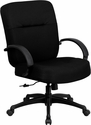 HERCULES Series 400 lb. Capacity Big & Tall Black Fabric Office Chair with Arms and Extra WIDE Seat
