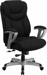 HERCULES Series 400 lb. Capacity Big & Tall Black Fabric Executive Swivel Office Chair with Height & Width Adjustable Arms [GO-1534-BK-FAB-GG]