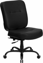 HERCULES Series 400 lb. Capacity Big & Tall Black Leather Office Chair with Extra WIDE Seat