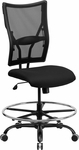 HERCULES Series 400 lb. Capacity Big & Tall Black Mesh Drafting Chair [WL-5029SYG-D-GG]
