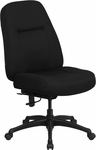 HERCULES Series 400 lb. Capacity High Back Big & Tall Black Fabric Executive Swivel Office Chair with Extra WIDE Seat [WL-726MG-BK-GG]