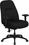 HERCULES Series 400 lb. Capacity High Back Big & Tall Black Fabric Executive Swivel Office Chair with Extra WIDE Seat and Height Adjustable Arms [WL-726MG-BK-A-GG]