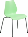 HERCULES Series 770 lb. Capacity Green Stack Chair with Lumbar Support and Silver Frame [RUT-288-GREEN-GG]