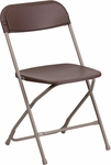 HERCULES Series 800 lb. Capacity Premium Brown Plastic Folding Chair [LE-L-3-BROWN-GG]