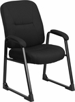 HERCULES Series 400 lb. Capacity Big & Tall Black Fabric Executive Side Chair with Sled Base [WL-738AV-BK-GG]