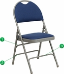 HERCULES Series Extra Large Ultra-Premium Triple Braced Navy Fabric Metal Folding Chair with Easy-Carry Handle [HA-MC705AF-3-NVY-GG]