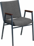 HERCULES Series Heavy Duty Gray Fabric Stack Chair with Arms [XU-60154-GY-GG]