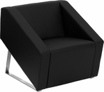 HERCULES Smart Series Black Leather Reception Chair [ZB-SMART-BLACK-GG]