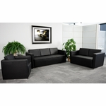 HERCULES Trinity Series Reception Set with Free Coffee and End Table [ZB-TRINITY-8094-SET-BK-GG]
