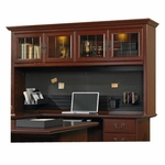 Heritage Hill 72''W x 41''H Wooden Desk Hutch with Upper Display Case Lighting - Classic Cherry [109871-FS-SRTA]