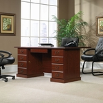Heritage Hill 70''W x 30''H Wooden Executive Desk with 2 Locking Drawers - Classic Cherry [109843-FS-SRTA]