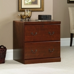 Heritage Hill 2 Drawer 30'' Square Wooden Locking Filing Cabinet - Classic Cherry [102702-FS-SRTA]
