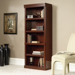 Heritage Hill 30''W x 71''H 5 Shelf Wooden Bookcase with 3 Adjustable Shelves - Classic Cherry [102795-FS-SRTA]