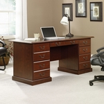 Heritage Hill 65''W x 30''H Wooden Executive Desk with 2 Locking Drawers - Classic Cherry [402159-FS-SRTA]