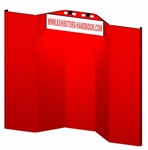 Hero Fully Upholstered 10 Panel Full Height Exhibit with Backlit Header & Curved Endcaps [H15-1-FS-OR]