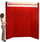 Hero Fully Upholstered 8 Panel Full Height Exhibit Panel with Double Backlit Headers [H10-FS-OR]