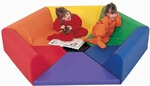 Multicolor Hexagon Happening Hollow 75''L x 65''H [CF321-910-FS-CHF]