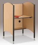 45.5''H to 57.5''H Adjustable Hi-Lo Study Carrel - Fusion Maple [02485H-SCI]