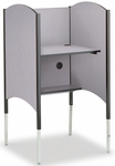 45.5''H to 57.5''H Adjustable Hi-Lo Study Carrel - Grey Nebula [02485D-SCI]