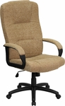 High Back Beige Fabric Executive Swivel Office Chair [BT-9022-BGE-GG]