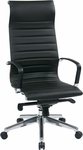 OSP Furniture High-Back Eco Leather Chair with Built-in Headrest - Black [73603-FS-OS]