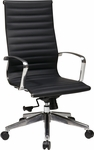 OSP Furniture High Back Eco Leather Chair with Locking Tilt - Black [74603LT-FS-OS]