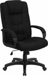 High Back Black Fabric Executive Swivel Office Chair [GO-5301B-BK-GG]