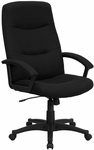 High Back Black Fabric Executive Swivel Office Chair [BT-134A-BK-GG]