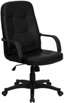 High Back Black Glove Vinyl Executive Swivel Office Chair [H8021-GG]