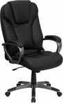 High Back Black Leather Executive Swivel Office Chair [BT-9066-BK-GG]