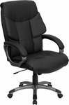 High Back Black Leather Executive Swivel Office Chair [BT-9123-BK-GG]