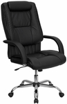 High Back Black Leather Executive Swivel Office Chair [BT-9130-BK-GG]