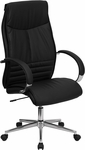 High Back Black Leather Executive Swivel Office Chair [BT-9996-BK-GG]