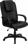 High Back Black Leather Executive Swivel Office Chair [GO-5301BSPEC-CH-BK-LEA-GG]